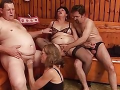 Party hot tube - mature pussy fucking